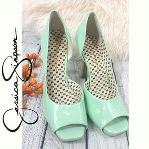 Mint Classy peep toe heels Jessica Simpson